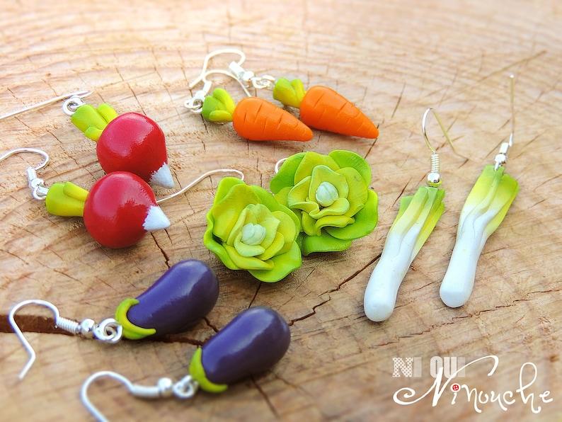Vegetable Earring Set