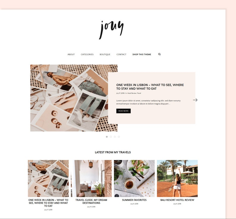 Jouy  Minimal WordPress Blog Theme / Modern and versatile image 0