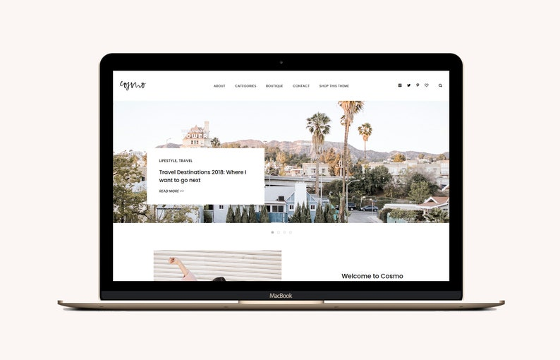 Cosmo  Wordpress Theme for Lifestyle Blogs  Clean and image 0
