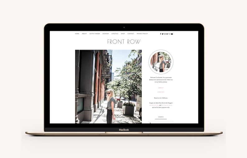 WordPress Theme for Fashion Bloggers / Front Row image 0