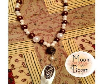 Moon Beam Pendant Necklace