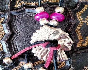 The Pink Indian Concho Necklace
