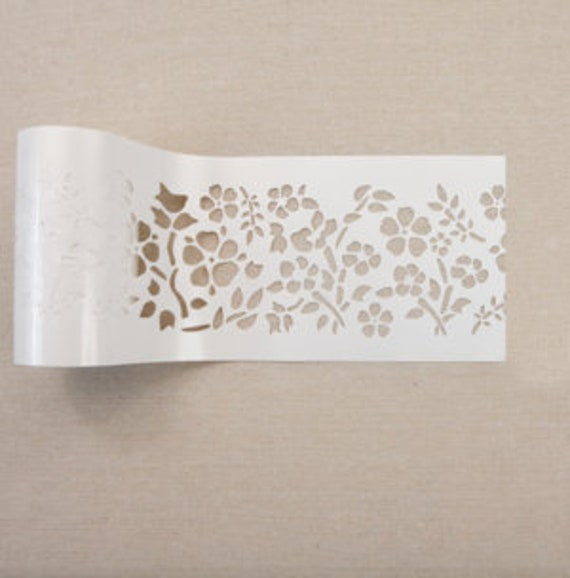 FREE SHIPPING ELIGIBLE Tea Rose Garden Flipping Fabulous Salina Redesign Stick /& Style Stencil Roll
