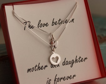 Mother Daughter Jewelry - Mother's day neckalce set - Mom daughter set - The love between mother and daughter is forever