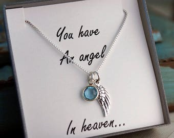 Remembrance Memorial Necklace / Child / Infant Loss - You have an angel in heaven / sympathy gift