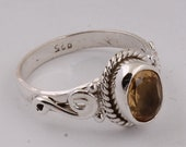 Citrine silver ring,solid silver ring, stone ring, 92.5 sterling silver, gemstone Silver Ring Antique Silver ETSYCYBER2021Cyber2021