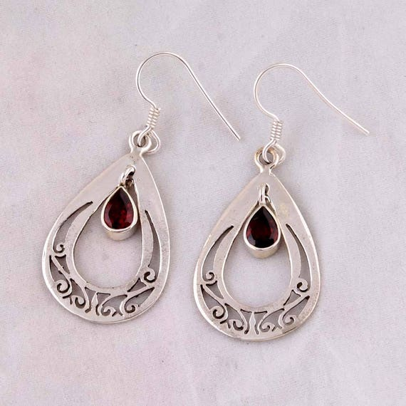 Solid 925-Sterling Solid Silver Earring With Turquoise Gemstone Handcrafted Earring Antique Silver Earring Etsy Cyber-2021 Gift For You