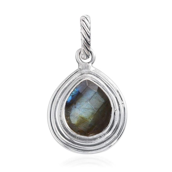 Natural Amazing Labradorite Gemstone Necklace Blue Fire With Cabochon Stone Boho Necklace Solid 925 Sterling Silver Necklac Christmas Gift