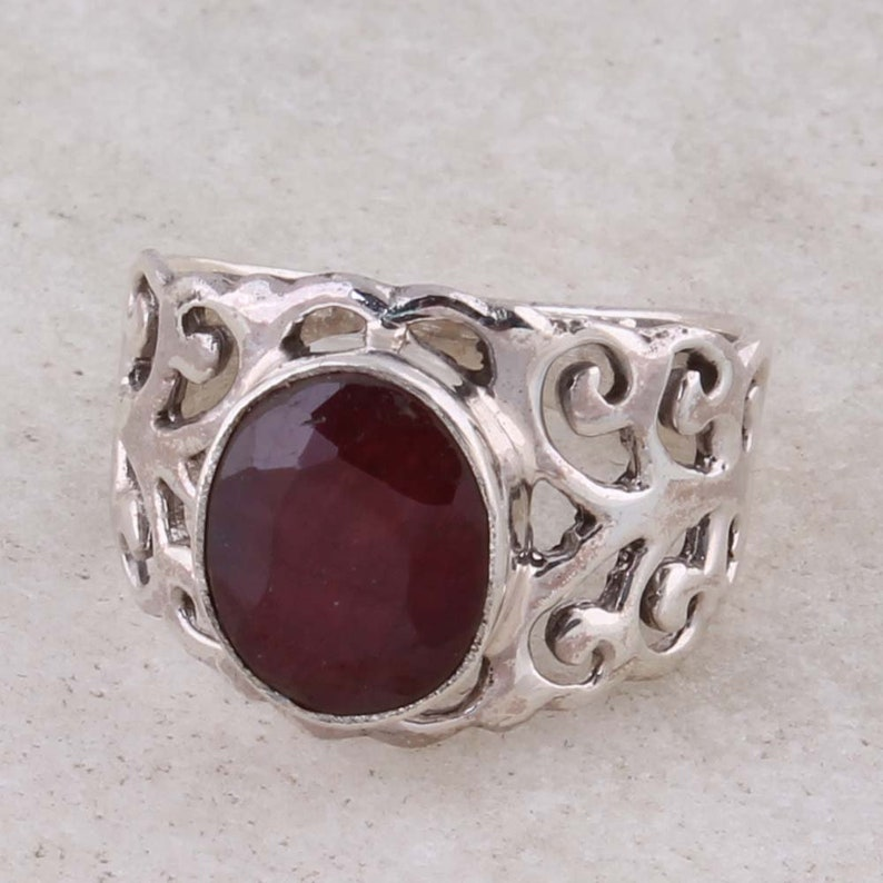 Sterling silver gemstone ring Antique Silver ETSYCYBER2018