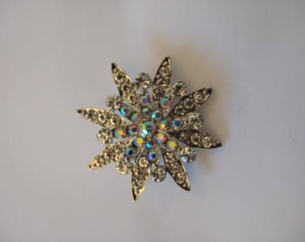 Stunning Clear And AB Brooch....Snowflake / Winter Brooch.....UK
