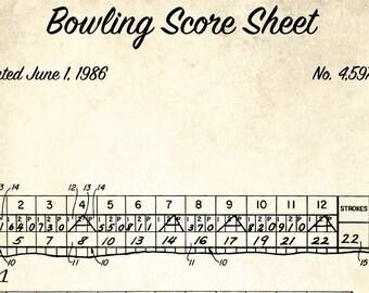 Bowling Score Sheet   Bowling Score Sheet Etsy