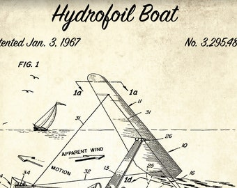 Sail boat blueprint | Etsy