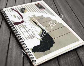 Coles Phillips Laminated Spiral Notebook Yellow Flowers On Etsy