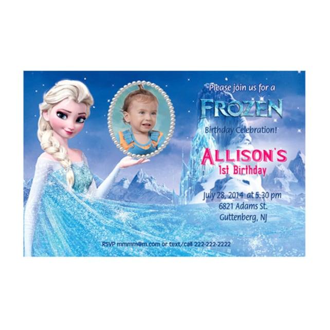 Printable - Frozen Birthday Custom Photo Invitations