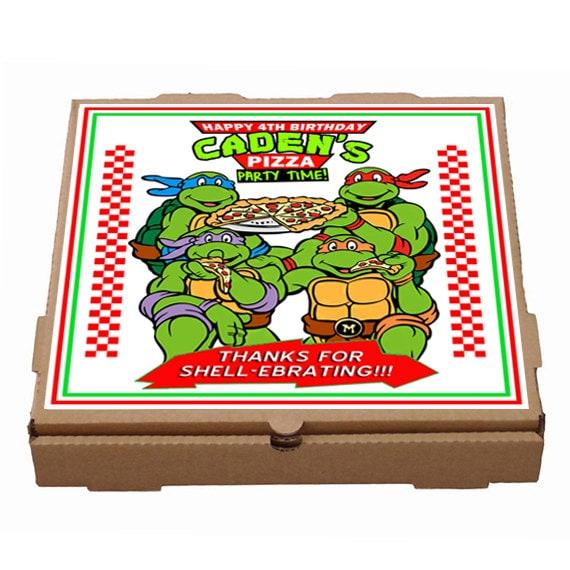 Printed Personalized Teenage Mutant Ninja Turtles Pizza Box Etsy