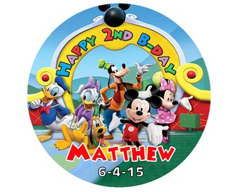Printable Mickey mouse clubhouse round label Sticker