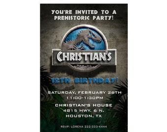 Jurassic World Birthday Invitation - Jurassic Park Invitation - Printable or Printed