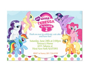 My Little Pony Birthday Party Birthday Invitation - Printable