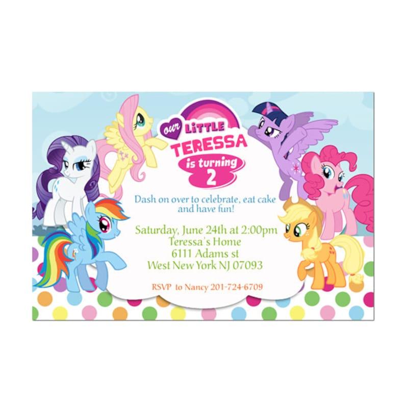 My Little Pony Birthday Party Invitation Printable