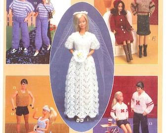 Fashion Doll Gym ~ Workout Items fit Ken dolls Annie/'s crochet pattern leaflet