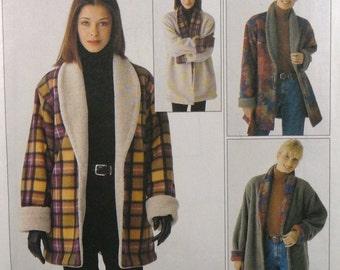 UNCUT McCall's 9576 Reversible Jacket, bust 30-36