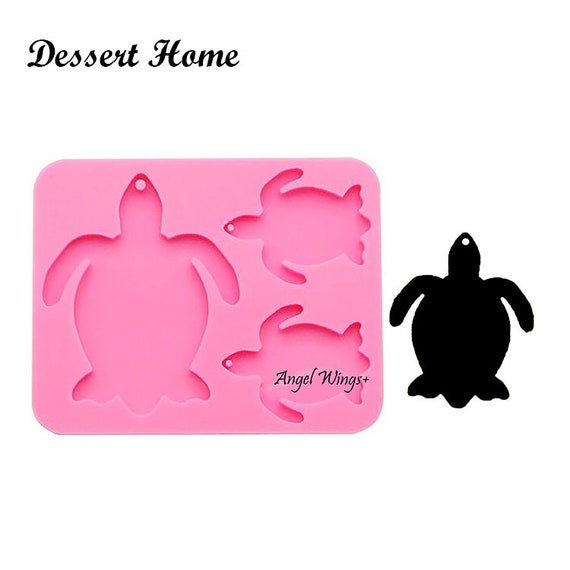 Silicone Mold For Epoxy Resin Crafts SHINY TURTLE FAMILY Keychain Mold