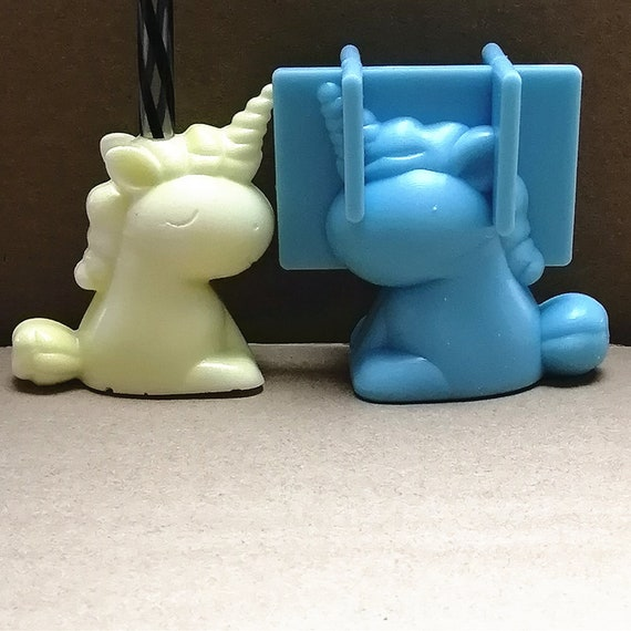 Unicorn straw topper silicone mold