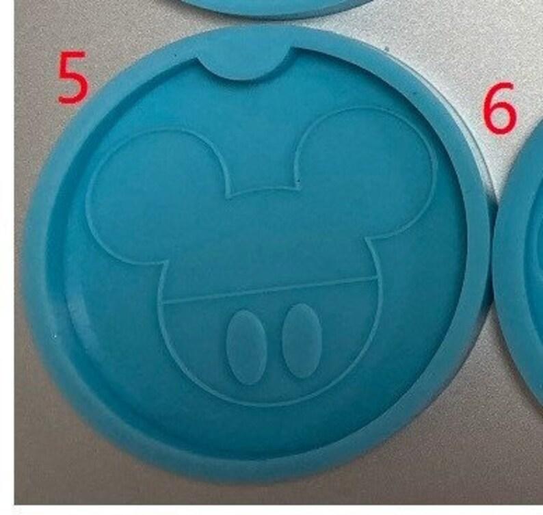 Mickey car coaster small geode car coaster silicone mold Party ...