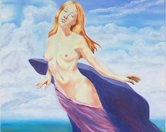 Flying Woman/Angel/Goddess Healing Planet Earth