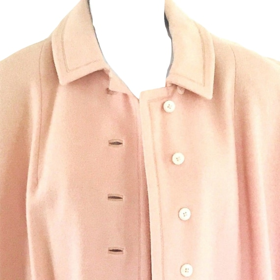 VTG. 50s  Baby Pink Tailored Lambs Wool Swing Coat