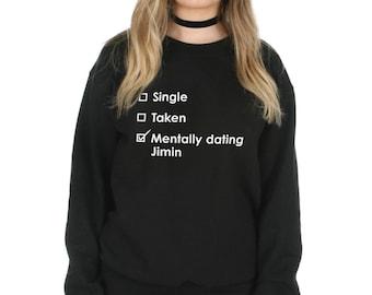 Singolo tratto mentalmente incontri Jimin felpa maglione maglia Top moda  Kpop Fangirl BTS cb24d4d4f67