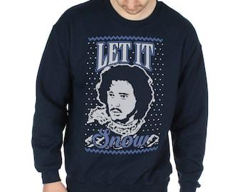 Christmas Let It Snow Funny Game Of Thrones Inspired T-Shirt Jon GOT TV