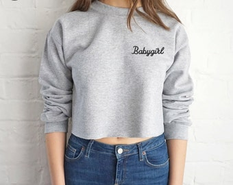 dd3fccc99 Meow Crop Sweater Jumper Sweatshirt Cropped Grunge Cute Cat