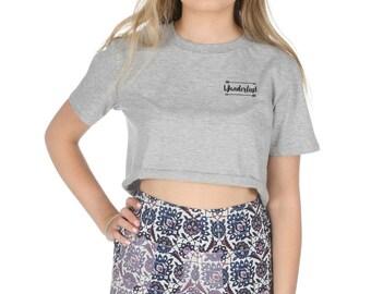 bfc3832d7086d Wanderlust Pocket Crop T-shirt Top Shirt Tee Cropped Fashion Tumblr Boho  Bohemain