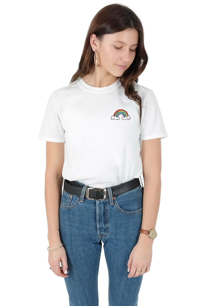 ca422e9677c0e Rainbow Pocket T-shirt Top Shirt Tee Fashion Blogger Grunge