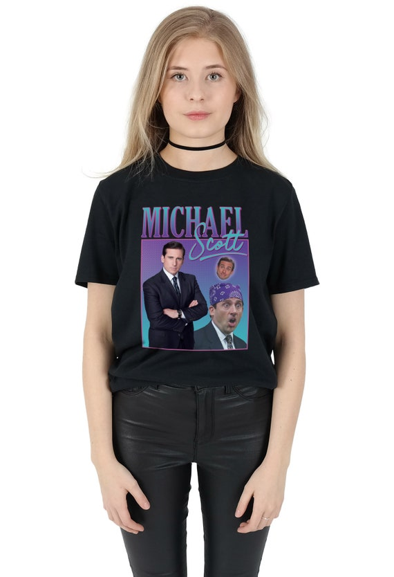 san francisco pretty nice clearance sale Michael Scott Homage T-shirt Top Shirt Tee Funny The Office TV 90's Party