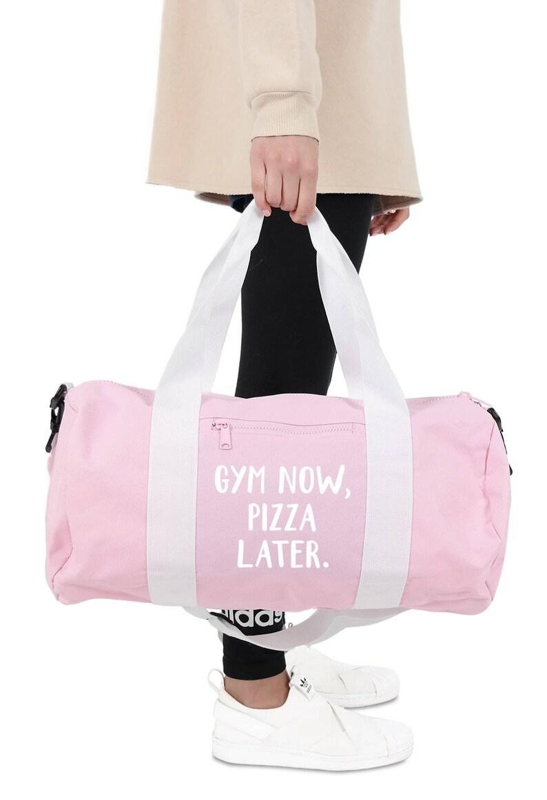 Gym Now Pizza Later Gym Duffel Bag Accessories Sports Yoga  ec7a2b23e9faf