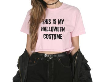 This Is My Halloween Costume Crop T-shirt Top Shirt Tee Cropped Fashion Grunge Vampire