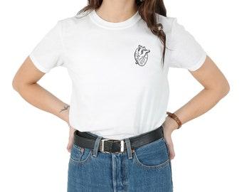 Anatomical Heart Pocket T-shirt Top Shirt Tee Fashion Blogger Grunge Cute Love Real