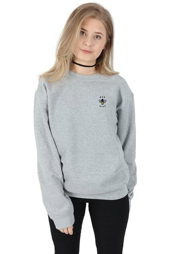 Biene, die schöne Tasche Pullover Pullover Top Mode Sweatshirt Grunge süß sein