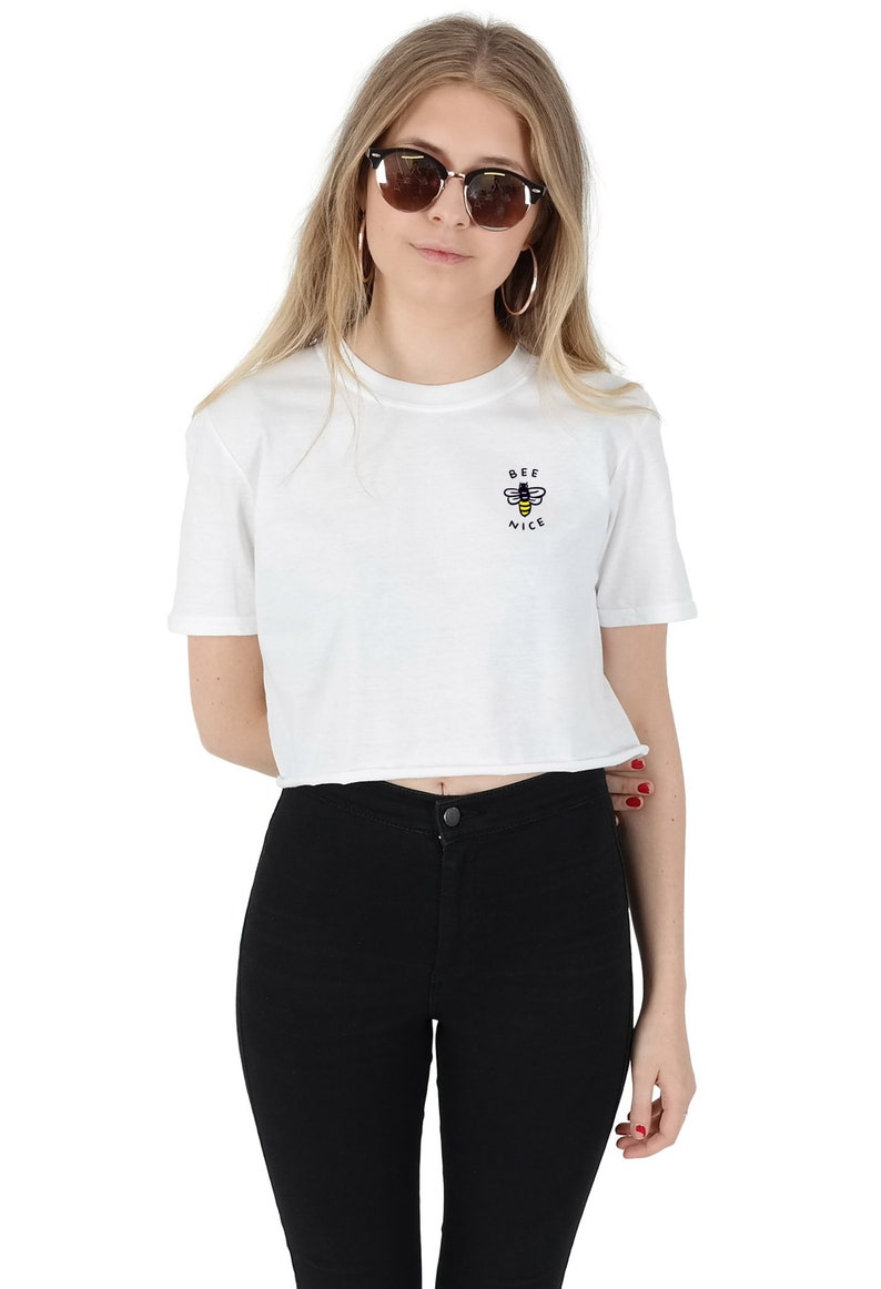62b541a97a2d0 Bee Nice Pocket Crop T-shirt Top Shirt Tee Cropped Fashion