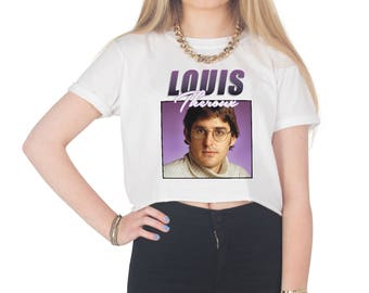 Louis Theroux Crop T-shirt Top Shirt Tee Cropped Fashion Fangirl 90's Retro