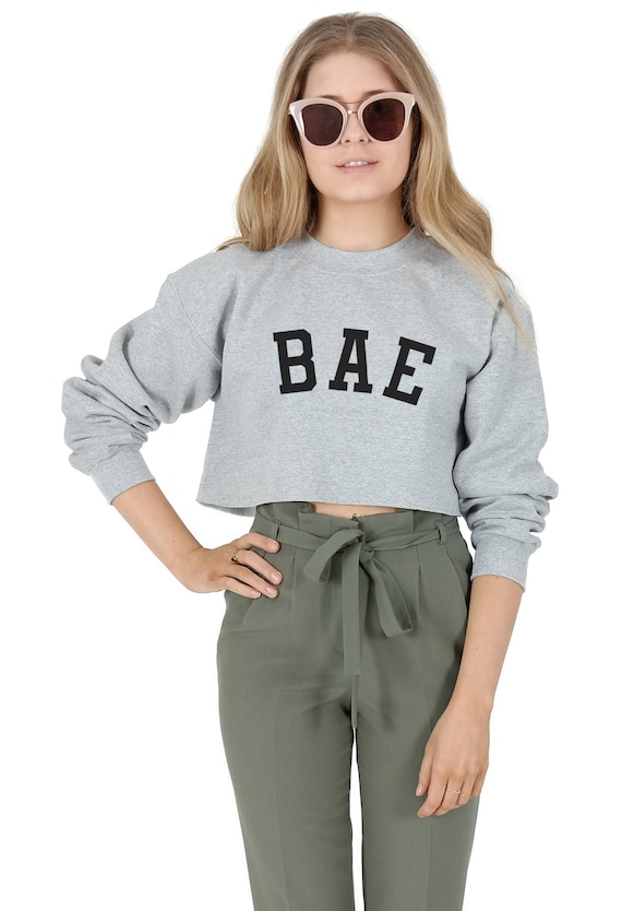 8994e6ace BAE Varsity Crop Sweater Jumper Sweatshirt Cropped Sports