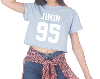 Jimin 95 Crop T-shirt Top Shirt Tee Cropped Fashion Fangirl Kpop BTS