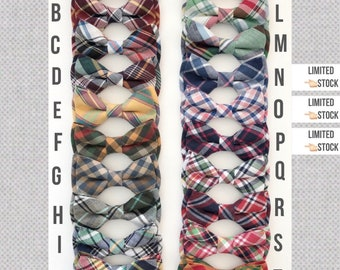 Plaid bow ties-plaid necktie-Daddy and son tie -baby bow tie -madras bow tie-Bow ties- boys bow ties-madras plaid bow ties- dog bowties