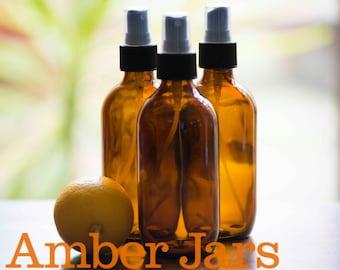 3 x 200ml Amber Glass Bottle with Fine Mist Spray SUPERIOR QUALITY SPRAYS