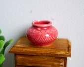 1 12 Dollhouse Miniature Clay Pottery Planter, clay flower pot, gardening 1 12 scale miniature plants container