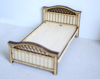 1:12 Scale Single Bed Kit No. 1