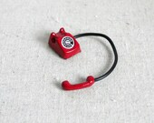 Dollhouse rotary dial telephone doll house vintage metal phone 1 12th scale miniature