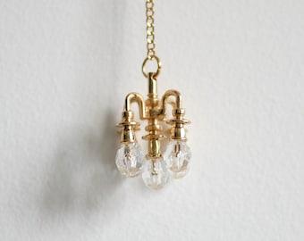 Casa De Muñecas Victoriano lámpara de luz de Pared Lámpara de Gas 1:24 escala media pulgada
